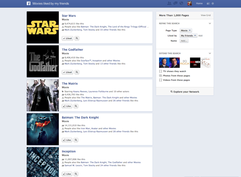 جستجوی گراف فیس بوک