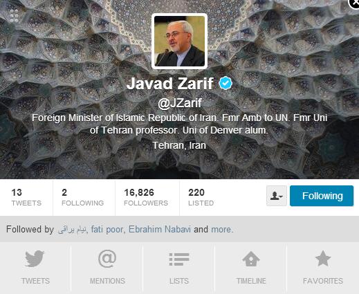 zarif tweet