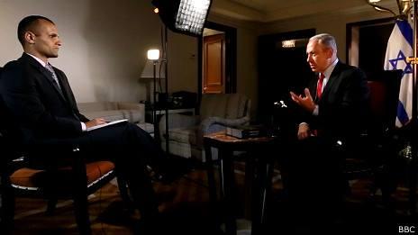 بازتاب مصاحبه نتانیاهو با بیبیسی فارسی در توییتر فارسی