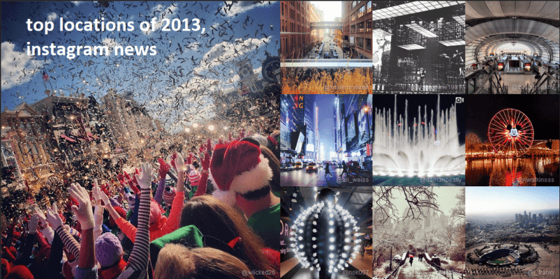 top locations of 2013, instagram news