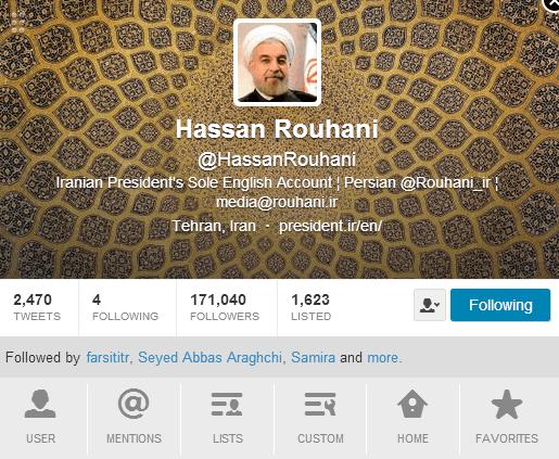آسوشیتدپرس: حسن روحانی میگوید توییترش را با کمک دوستانش آپدیت میکند