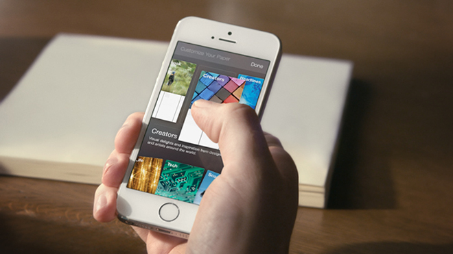 Facebook Paper app 1 کاغذ اپلیکیشن