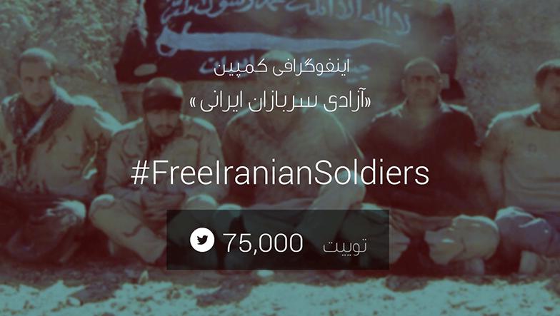 اینفوگرافی کمپین «آزادی سربازان ایرانی»
