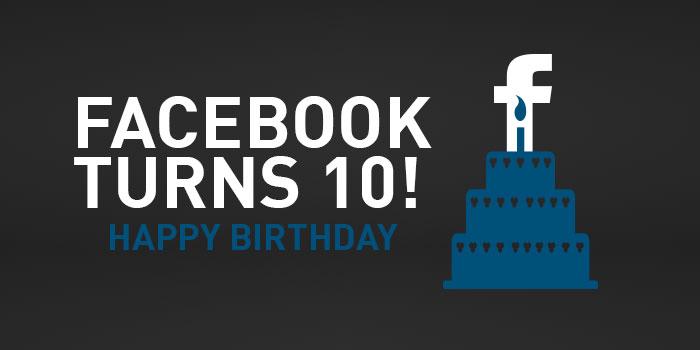 شمع ۱۰ سالگی فیسبوک روشن شد!