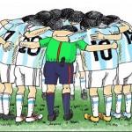 کاریکاتور دیدار ایران و آرژانتین (1)