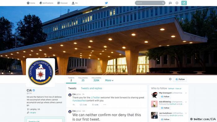 سازمان سیا به توییتر و فیسبوک پیوست