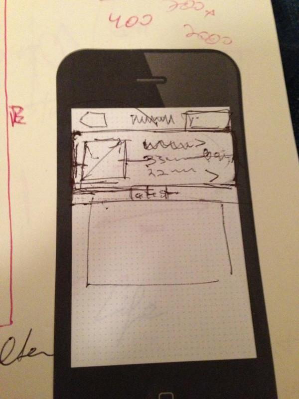 طرح اولیه اینستاگرام که توسط مایک در سال ۲۰۱۰ طراحی شد.